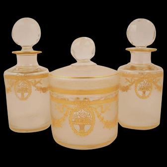 Vintage Crystal Boudoir set