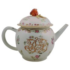 "18th Century Chinese Export Tea Pot ""JEB"""