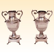 Private Chapel Sterling Silver Flower Vases (pair) Neapolitan Borbonic, 1850's
