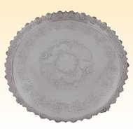 Sterling Silver Round Footed Tray with Gallery Rim, Topazio Portugal