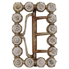 18th Century French Shoe Buckle with Rhinestones