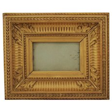 Golden Oak Carved Wood Frame