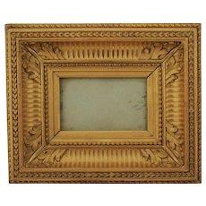 Golden Oak Carved Wood Frame