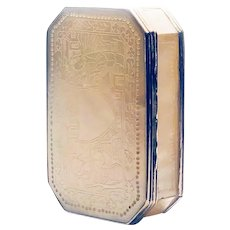 19th Century French Mother of Pearl and Sterling Silver Snuff/Trinket box