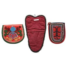 Iroquois Beaded Pouches (three pieces)