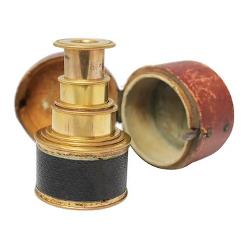Victorian Pocket Telescope in its Leather Case