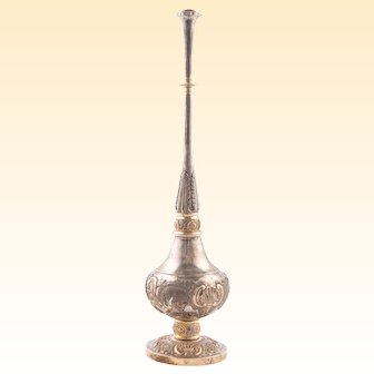 Rose Water Sprinkler, Sterling Silver and Gold Plate
