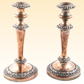 Candle Sticks, Vanishing Silver Plating on Copper