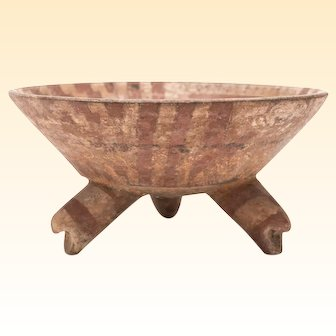 Precolumbian, Terra Cotta, Michoacan Tripod Bowl