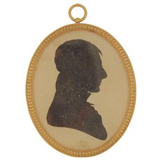 18th Century French Oval Frame with Shadow Silhouette