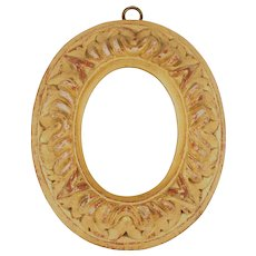 French 18th Century Oval Golden Wood Frame
