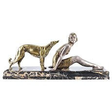 Art Deco Gilt Bronze and Silvered Sculpture by Dimitri Chiparus