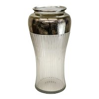 Fine American Sterling Silver Overlay Cut Glass Vase, circa 1900