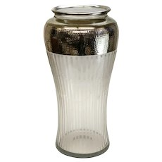 Fine American Sterling Silver Overlay Cut Glass Vase, circa 1900