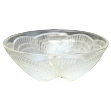 Rene Lalique French Art Glass Coquilles Bowl, Sea Shell Designs