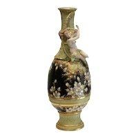 Amphora Turn Teplitz Austrian Hand Painted Porcelain Nude Figure Vase, c 1890