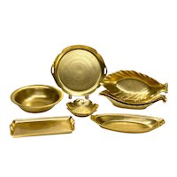 8 Pickard Porcelain Gold Encrusted Serving Dishes, circa 1930-1940