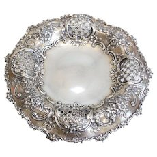 Tiffany & Co Makers Sterling Silver Pierced Centerpiece Bowl #12284 c1905
