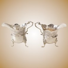 Pair of Royal Irish Silver Ltd Dublin Sterling Silver Milk Jugs, 1967