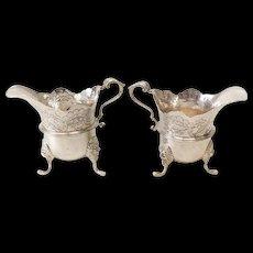 Pair of Royal Irish Silver Ltd Dublin Sterling Silver Milk Jugs, 1967