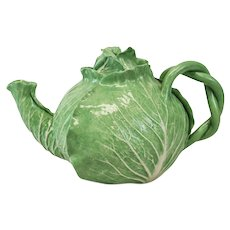 Dodie Thayer Lettuce Leaf Ware Porcelain Teapot, Hand Crafted Earthenware