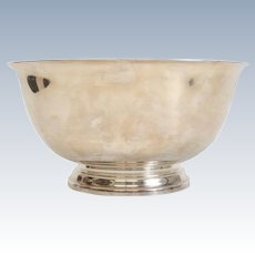 """Stunning Tiffany & Co Makers Sterling Silver 12"""" Footed Punch Bowl #23620"""