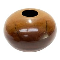 Philip Moulthrop (US 20th Century) Modernist Wild Cherry Turned Wood Round Vase