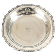 Tiffany & Co. Sterling Silver Floral Trimmed Serving Bowl #20683, circa 1890