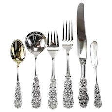 104pc Sterling Silver Flatware Service for 16 Th Marthinsen in Valdres, c 1950