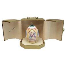 Theo Faberge Hand Painted Bone China Pheonix Egg, Ltd Ed of 500, Original Box