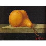 "Bert Beirne (American 1939) Oil on Panel, ""Bosc Pear"" Signed"
