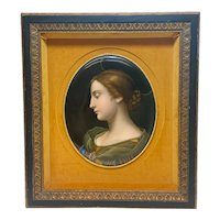 KPM Germany Hand Painted Porcelain Plaque, Beauty with Halo, Late 19th Century