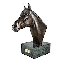 "Marilyn Newmark Patinated Bronze Horse Sculpture ""Red Baron"" 1983, Signed"