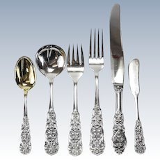 104 Piece Sterling Silver Flatware Service for 16 T.H. Marthinsen in Valdres, circa 1950