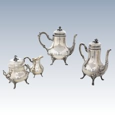 Emile Puiforcat Sterling Silver Tea & Coffee Service French .950