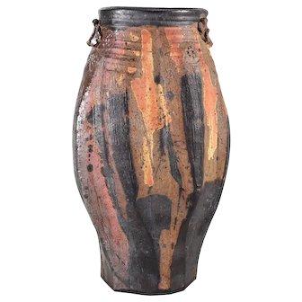 Vivika Otto Heino Stoneware Hand Crafted Pottery Vase c1998, Signed