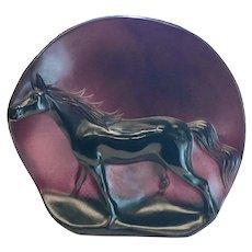 Daum France Pate De Verre Horse Sculpture, Camargue by Guy Petitfils, Ltd Ed 150