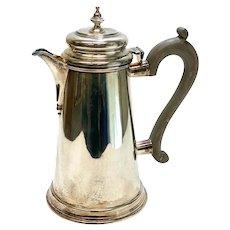 CJ Vander Ltd London Sterling Silver Georgian Style Tea Coffee pot, 1973