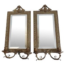 Stunning Pair Tiffany & Co. Makers Gilt Bronze Wall Mirrors, Late 19th Century