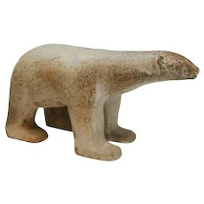 Loet Vanderveen (Dutch, 1921-2015) Ceramic Potter Polar Bear Sculpture, Signed