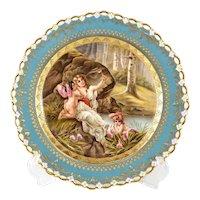 "Berlin KPM Cabinet Plate of ""Venus u amor"", Late 19th Century, Reticulated Rim"