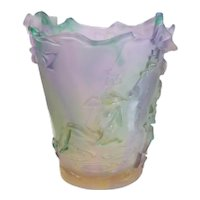 Magnum Daum France Pate De Verre Swing Lady Fairy Vase, Limited Ed of 250