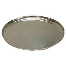 The Kalo Shop Sterling Silver Hand Hammered Modernist Centerpiece Dish, 1937