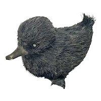 Buccellati Italian 800 Silver Furry Duckling Figurine