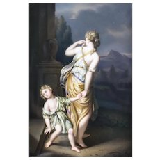 KPM Porcelain Plaque Hagar & Ishmael Leaving House of Abraham, Signed 19th Century