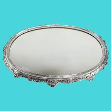 19th Century German Sterling Silver Mirrored Centerpiece Plateau