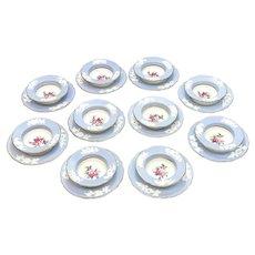 10 Copeland Spode England Porcelain Ramekins & Underplates, circa 1900