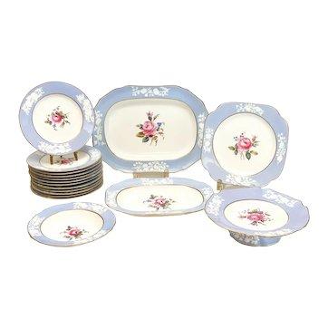 Copeland Spode England Porcelain Dessert Service for 12, circa 1900. Roses