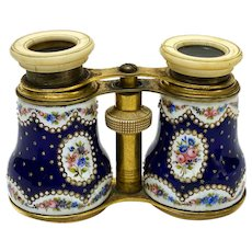French Bronze and Enamel Opera Glasses / Binoculars, circa 1900