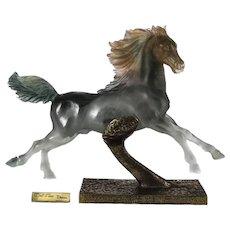 Limited Edition Pate De Verre Sculpture of a Horse on Bronze by Daum